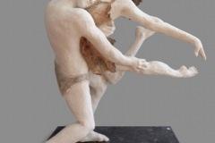 Carmen WARCHOL - Couple dansant – 37 x 43 x 43 Modelage grès patiné