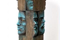 Edouard DULLIN -Forum - 14 x 48 x14 cm Terre cuite patinée