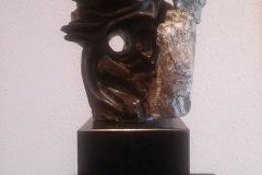 Serge BÉQUET - Aztéqua – 25x31 x 15 cm Taille directe
