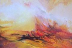 LUSSERT -Embrasement – 65 x 46 cm Huile sur toile