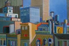Magali MOURET - Toits de New York – 60 x 80 cm Huile sur toile