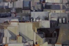 Nicole ELKON - Paris 283 – 89 x 116 cm Huile sur toile