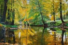 Jean-Jacques CURT - Reflets d'automne 20 F73x60 Acrylique
