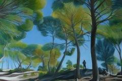 Emese CHAUVEL -Printemps au sud – 60 x 73 cm Acrylique