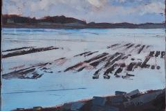 Claire HUR de SACY - Parc à huitres – 73 x 53 cm Huile sur toile