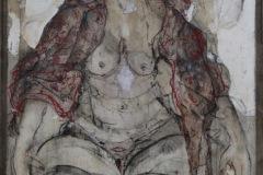 Rini FERHI - Sa majesté la Femme – 80 x 120cm Dessin au fusain