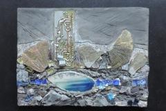 Estelle ZUBER - Petit Lac – 32 x 26 cm Technique mixte