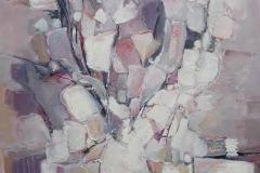 Nelly BURNOTTE - Blanc – 100 x 100 Huile sur toile