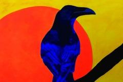 Muriel MONSERISIER - Corbeau – 54 X 65 cm Acrylique sur toile