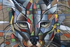 Frederique ASSAËl - Caracal – 146 x 89 cm Huile sur toile