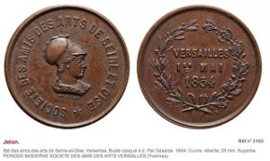 svaif - médailles datées du 5 mai 1854